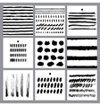 set with ink lines stains blots prints vector image