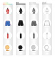 a boxing robe and panties a training punching bag vector image