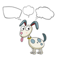 A puppy with empty callouts vector image vector image
