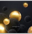 abstract background with 3d dynamic spheres vector image
