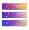 abstract banners with constellation of lights vector image vector image