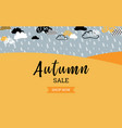 autumn sale background banner for shopping sale or vector image