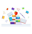background with books vector image vector image