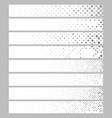 banner background set - rectangular dot pattern vector image vector image