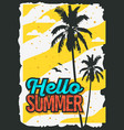 beach summer poster design with palm trees vector image
