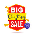 big christmas sale banner big sale offer vector image