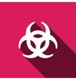 Biohazard sign icon Danger symbo vector image