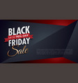black friday background with blank space on right vector image vector image