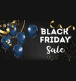 black friday sale promotion and advertisement vector image