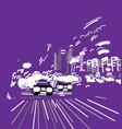 car night city abstract urban street vector image vector image