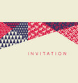 classic xmas simple pattern for header card vector image vector image