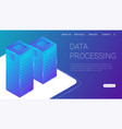 concept big data processing energy station of vector image vector image