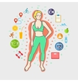 concept healthy lifestyle vector image vector image