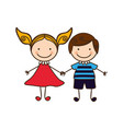 couple boy and girl cartoons icon vector image vector image