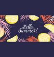 creative banner decorated with hand drawn lemon vector image