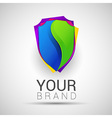Creative colorful abstract logo Shield design vector image