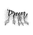 dream hand lettering quote wall decor vector image vector image