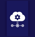 edge computing technologies icon with cloud vector image vector image