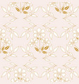 elegant golden flowers and leaves in a seamless vector image
