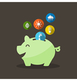 Energy Saving with Piggy Bank vector image vector image