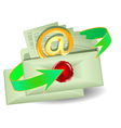 envelopes with an email vector image vector image