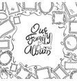 Family photo album cover - freehand drawing of