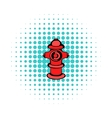 Fire hydrant icon comics style vector image vector image