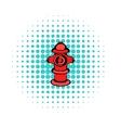 Fire hydrant icon comics style vector image