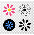 flower eps icon with contour version vector image vector image