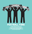 Football Fans With Champion Scarves vector image