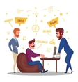 Freelance Business Relationships vector image vector image