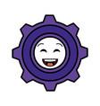 gears machinery kawaii character vector image vector image