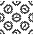 Gearwheel with tap sign as plumbing work logo icon vector image vector image