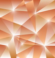 Geometric pattern with orange triangles background vector image vector image