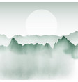 hand painted mountain landscape vector image
