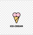 heart ice cream logo icon vector image
