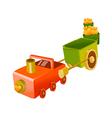 icon toy train vector image vector image