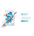 infographi big data analysis technology concept vector image vector image
