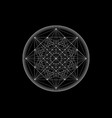 line drawing mandala sacred geometry white logo vector image vector image
