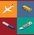 logistics and freight transportation icon set vector image vector image