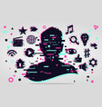 man chatting social media people activity online vector image vector image