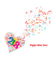 merry christmas and happy new year 2018 musical vector image vector image