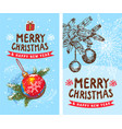 merry christmas happy new year 2019 2 funny card vector image vector image