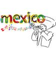 Mexican Mariachi vector image vector image