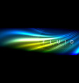 neon glowing fluid wave lines magic energy space vector image vector image