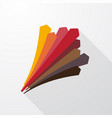 perspective pastel arrows pointing upward vector image
