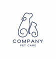 pet shop logo design icon vector image
