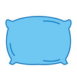 pillow bed isolated icon vector image