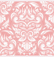pink and white damask seamless pattern vector image