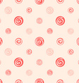 pink soft abstract seamless pattern polka dot vector image vector image
